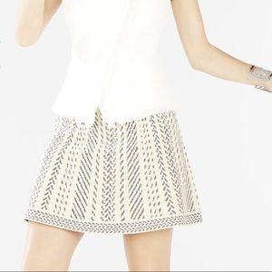 Bcbgmaxazria Knit Jacquard A-Line Skirt